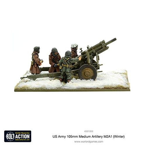 Bolt Action Us Army 105mm Medium Artillery M2a1 (winter) Blister - Metal