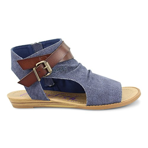 Wedge Cut Sandal Women's Blowfish Rancher Indigo Whiskey Balla Dye EB6xOn8wq