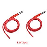 Sunhokey 2pcs 6x20mm 100CM Cable lenth 24V 40W Ceramic Cartridge Heater for 3D Printer by Sunhokey