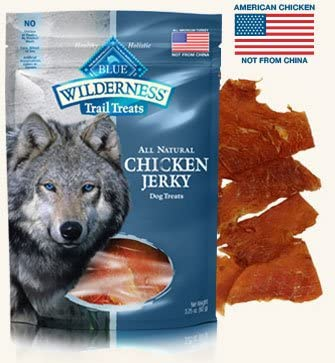 3 Bags - Blue Buffalo Wilderness Chicken Grain Free Dog Jerky Treats - Made in USA