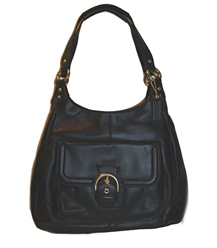 COACH Campbell Leather Hobo Handbag Black (Hobo Coach Handbags)