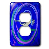 3dRose Lasha Beraia - Minimalist - Woman In Spiral - Light Switch Covers - 2 plug outlet cover (lsp_288714_6)