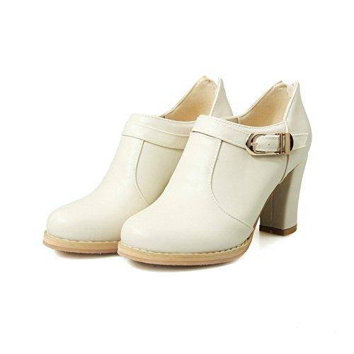 Adee Femme Round-Toe Western polyuréthane Pompes Chaussures - Blanc - blanc, 43