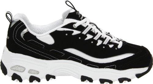 Donna Skechers Black nbsp;centennial white D'lites Sneaker fgRvH