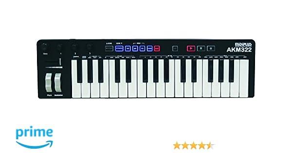 Teclado controlador de la marca MIDIPLUS, modelo MIDI AKM322, con puerto USB: Amazon.es: Instrumentos musicales