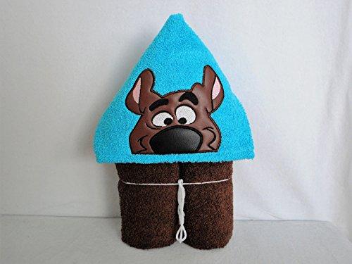 Brown Silly Dog Hooded Bath Towel - Baby, Child, Tween (Doo Scooby Bath)