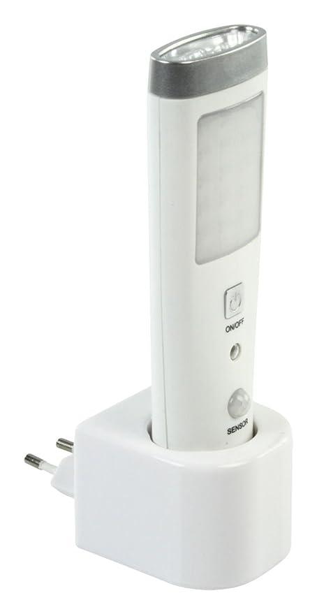 Linterna con detector de presencia (15 LED, recargable)