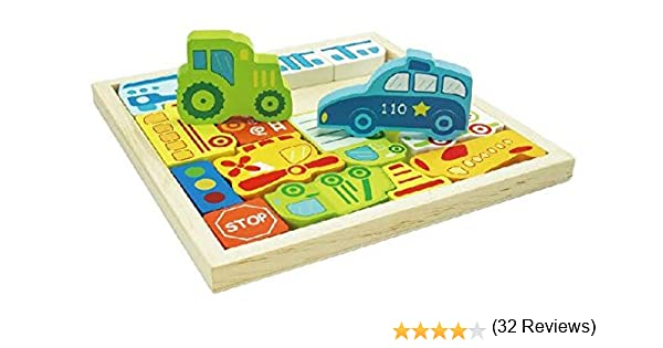 Rompecabezas de madera (vehículo): Amazon.es: Juguetes y juegos