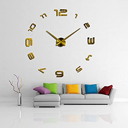 Wall Clock 3d Acrylic Mirror Clocks Reloj De Pared Quartz Watch Home Living Room Modern Diy