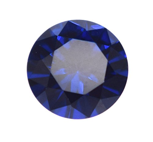 Alone Moon 100pcs Loose Sapphire Synthetic Gemstones Round Diamond Cut Perfect Replacement for Jewelry Making (5mm, Sapphire)