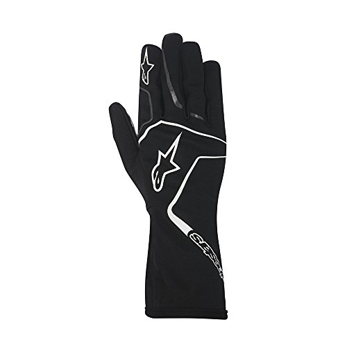 Alpinestars 3552717-12B-M YTH Tech 1-K Race Gloves, Black/White, Size M