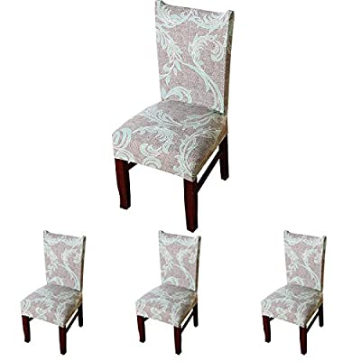ColorBird European Style Spandex Fabric Chair Slipcovers Removable Universal Stretch Elastic Chair Protector Covers for Dining Room, Hotel, Banquet, Ceremony