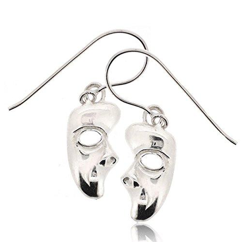 Phantom Opera No Mask (Sovats Phantom Of The Opera Mask Earring For Women 925 Sterling Silver Rhodium Plated - Simple, Stylish Drop Earrings&Trendy Nickel Free Earring)