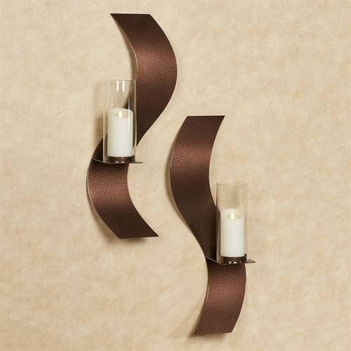 Touch Of Class Metal Rhythmic Wall Sconces Antique Copper Set of Two