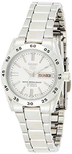 Seiko Women's Year-Round Automatic Watch with Stainless Steel Strap, Silver, 12 (Model: SYMG35K1)