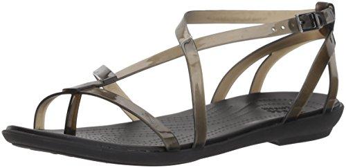 Crocs Womens Isabella Gladiator W Flat Sandal Black/Black