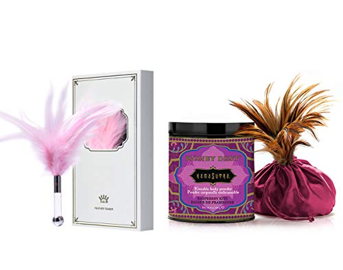 Kama Sutra Honey Dust Raspberry Kiss & ZALO Feather Teaser Pink