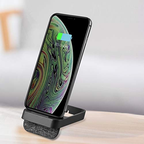 Solovley Car Wireless Charger, 10W Qi Certified Power Fast Charge Phone Holder, Detachable Vertical Wireless Charging Fabric Wireless Charging for iPhone Xs Max/XR/XS/X/8/8 Plus, Galaxy Note 9/S9, All