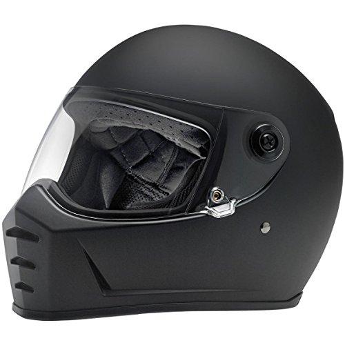 Biltwell Lane Splitter Solid Full-face Motorcycle Helmet - Flat Black / (Flat Head Motorcycle)