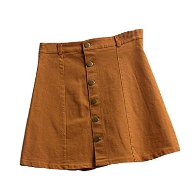 Lookatool Skirts, Women's Fashion Waist Skirt Korean Style Girls Cowboy Denim
