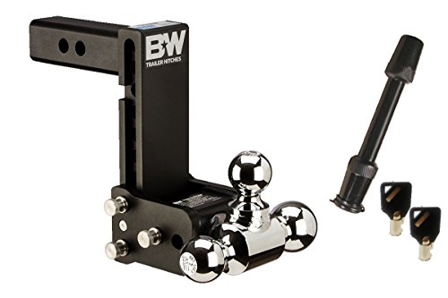 TruckProUSA B&W TS10049B Tow & Stow Adjustable Ball Mount - Tri-Ball - 7