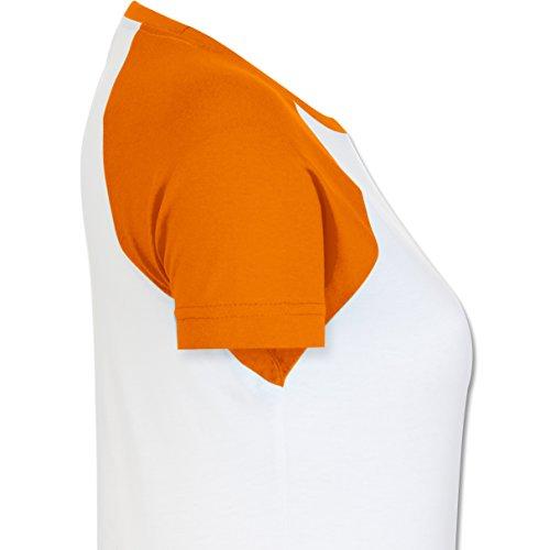 Geburtstag - Einhorn Königinnen Wurden IM November Geboren - XXL - Weiß/Orange - L195 - Zweifarbiges Baseballshirt/Raglan T-Shirt für Damen