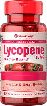 Vitamin World Double Strength Lycopene 10mg, Prosta-Guard, 100 Softgels, 1 Bottle by Vitamin World