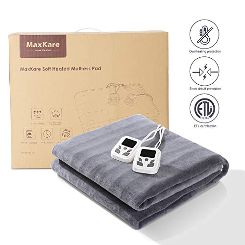 Heated Mattress Pad Queen Dual Coral & Timer Fast Heating Certification, Warm & Tense 2