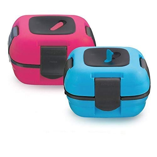 Lunch Box ~ Pinnacle Insulated Leak Proof Lunch Box for Adults and Kids - Thermal Lunch Container With NEW Heat Release Valve ~Set of 2~ Blue/Pink (Best Frozen Chicken Nuggets For Toddlers)