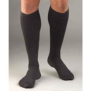Activa Mens Dress Socks Microfiber Moderate Compression 20-30 mm Hg, Pinstripe