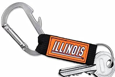 Lonestar Jewelry University of Illinois Carabiner with Bottle Opener and Key Chain