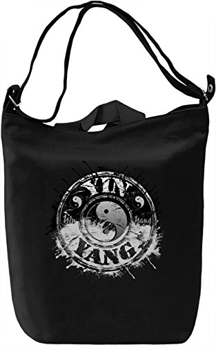 Yin Yan Sign Borsa Giornaliera Canvas Canvas Day Bag| 100% Premium Cotton Canvas| DTG Printing|