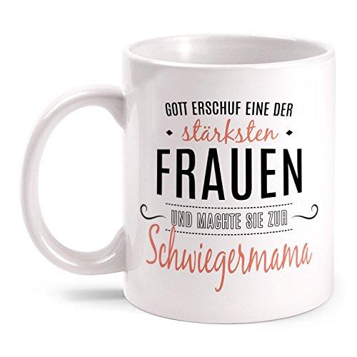 Fashionalarm Tasse Gott Erschuf Schwiegermama Beidseitig Bedruckt Mit Spruch Geschenk Idee Für Schwiegermutter Zum Geburtstag Beste Der Welt