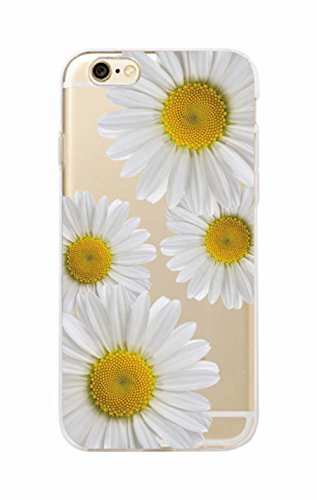Daisy Sunflower Floral Flower Soft Clear Phone Case Fundas Coque For Phone 3 For Samsung S8 Plus - Akoya Chain Earrings