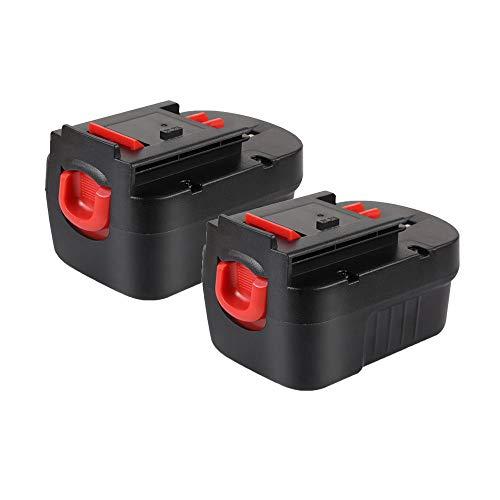 VANTTECH 2-Pack 2000mAh HPB14 Battery for Black&Decker 14.4v FireStorm 14.4-volt Cordless Drill Power Tools FSB14 FS140BX 499936-34 499936-35 A14 A144EX A1714 BD1444L HPD14K-2 CP14KB HP146F2 HP148F2R