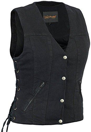 (Daniel Smart Women's Single Back Panel Concealed Carry Denim Vest)