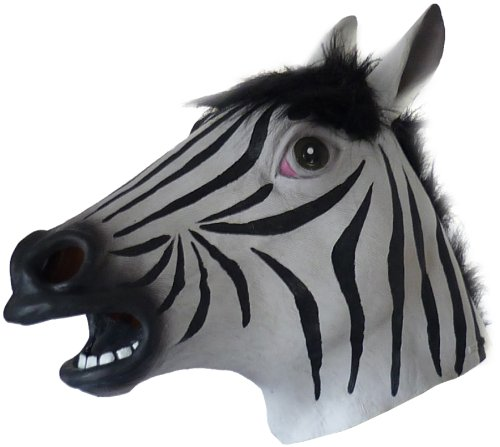 Animal mask, zebra ()