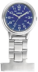 Lorus Unisex Professional Blue Dial Nurses Fob Watch RG251DX9