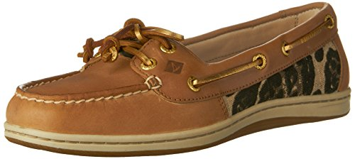 Sperry Top-Sider Women's Firefish Leopard Boat Shoe,Linen,US 12 M STS95991