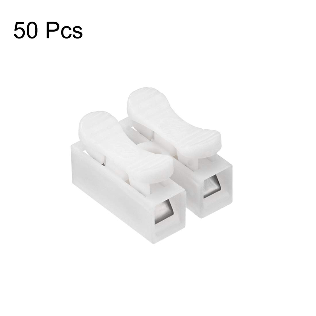 uxcell CH2 Spring Wire Connectors Quick Cable Connector Press Type Terminal Barrier Block 30pcs