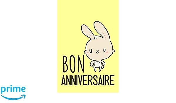 Carnet De Notes Bon Anniversaire Petit Journal Intime Mignon Un