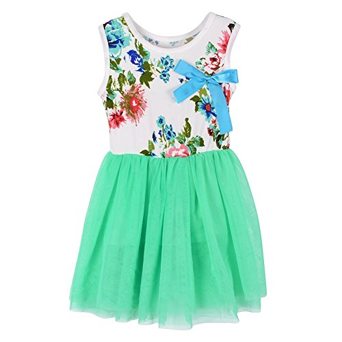 Sunsent Girls Summer Autumn Floral Dress One Piece Skirt Tutu (Autumn Skirt)