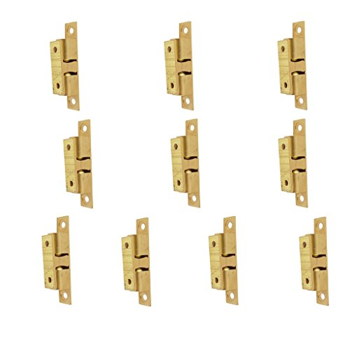 Brass Roller Catch - 50mm Furniture Cabinet Door Brass Dual Ball Roller Catch Latch 10 Pcs