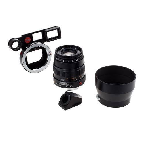 Leica 90 mm/ f4 Macro-Elmar set w/Macro Adapter & Angle VF Black