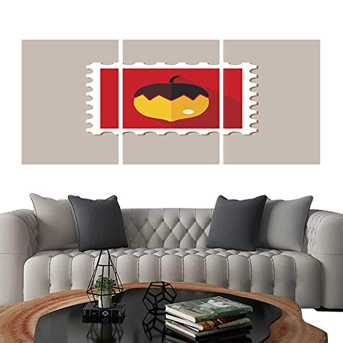 UHOO Prints Wall Art PaintingsNut Flat Stamp with Long shadow1. Customizable Wall Stickers 12