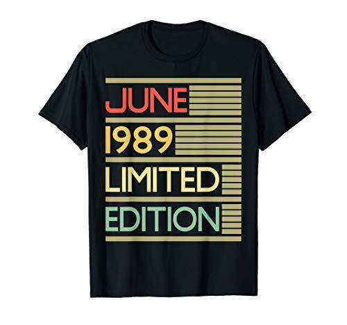 30th Birthday Gift June 1989 Shirt- 30 Years Old Shirt