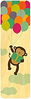 product image for Night Owl Paper Goods Reading Monkey Real Wood Bookmark
