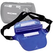 DURAGADGET Deep Blue Waterproof Air Lock Waist Bag / Dry Camcorder Carry Pouch for Nextbase InCarCam 302G Deluxe Car DVR Video Recorder, Nextbase InCarCam 402G Professional Car DVR Video Recorder, Sony HDR-AS30, Rideye Black Box, EasyPix DVC 5130 HD Rover, EasyPix DVC 5227 Flash