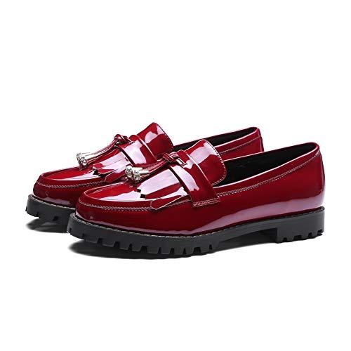 Informales uretano Para Mujer Red Mms06506 Zapatillas De Con Senderismo Flecos 1to9 1PFgqwz