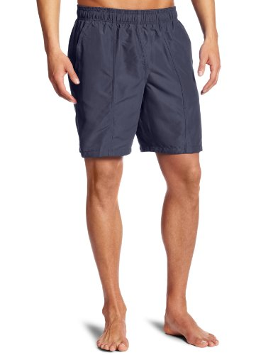Speedo Men's Solid Rally Volley 19 Inch Workout & Swim Trunks,Medium,Granite